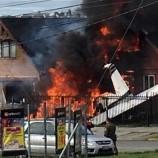 Pesawat Jatuh Tabrak Rumah Warga di Chile, 6 Orang Tewas